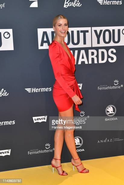 Lena Gercke arrives for the annual ABOUT YOU Awards at Bavaria Studios on April 18 2019 in Munich Germany