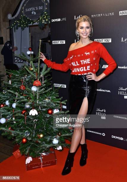 Lena Gercke attends her Christmas Dinner Party at the Bar Hygge on November 30 2017 in Hamburg Germany