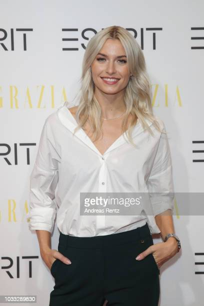 Lena Gercke attends #LenaForEsprit Collection Launch Grazia x Esprit on September 14 2018 in Duesseldorf Germany