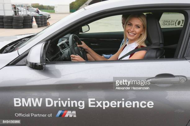 Lena Gercke attends the BMW Oktoberfest Driving Challenge at BMW Driving Academy Maisach on September 19 2017 in Munich Germany