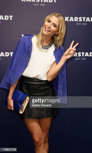 Lena Gercke attends the 'Feel London By Karstadt' Launch Event at Karstadt Store Duesseldorf on September 4 2013 in Dusseldorf Germany