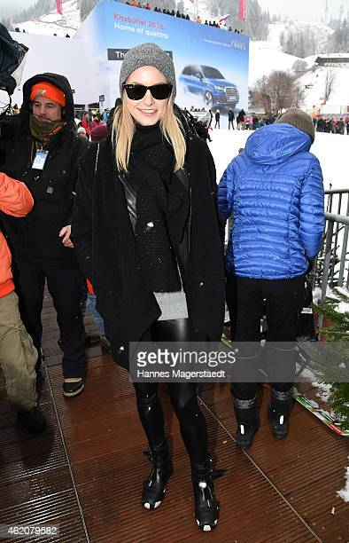 Lena Gercke attends the Hahnenkamm Race on January 24 2015 in Kitzbuehel Austria