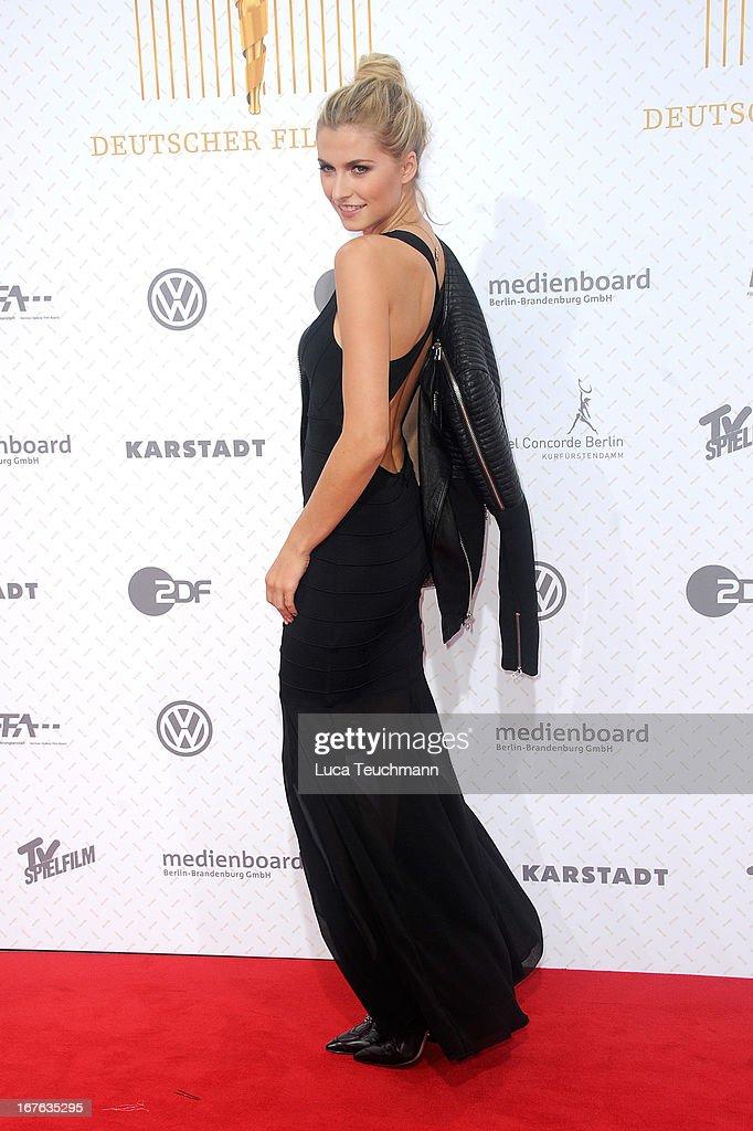 Lena Gercke attends the Lola German Film Award 2013 at Friedrichstadtpalast on April 26, 2013 in Berlin, Germany.