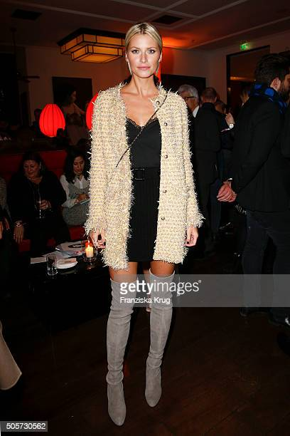 Lena Gercke attends the Marc Cain After Show VIP Reception MercedesBenz Fashion Week Berlin Autumn/Winter 2016 at the China Club on January 19 2016...