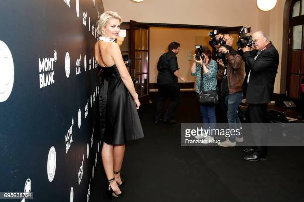 Lena Gercke attends the Montblanc De La Culture Arts Patronage Award 2017 at Humboldt Carre on June 13 2017 in Berlin Germany