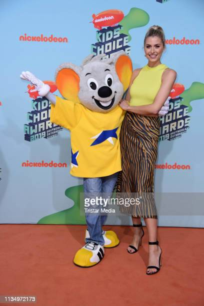 Lena Gercke attends the Nickelodeon Kids Choice Awards on April 4 2019 in Rust Germany