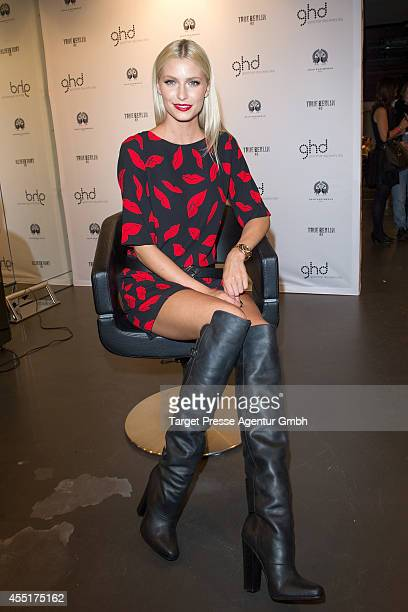 Lena Gercke attends the True Berlin No 2 by Shan Rahimkhan Ghd on September 10 2014 in Berlin Germany