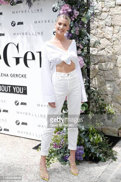 Lena Gercke attends the Wellbeing Summer Lunch featuring a preview of the new Spring/Summer collection from LeGer by Lena Gercke x About You during...