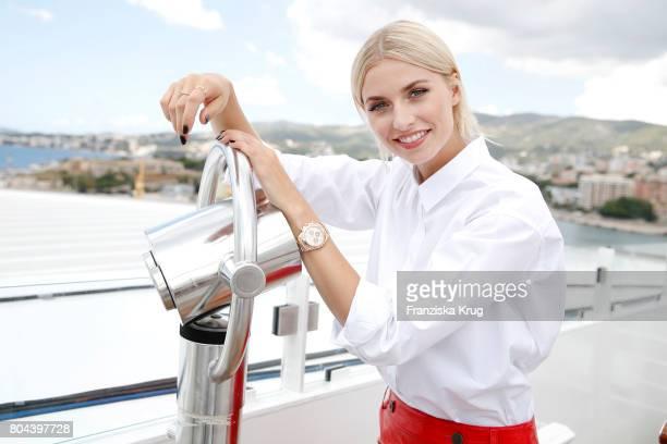 Lena Gercke christens the AIDAperla cruise ship on June 30 2017 in Palma de Mallorca Spain