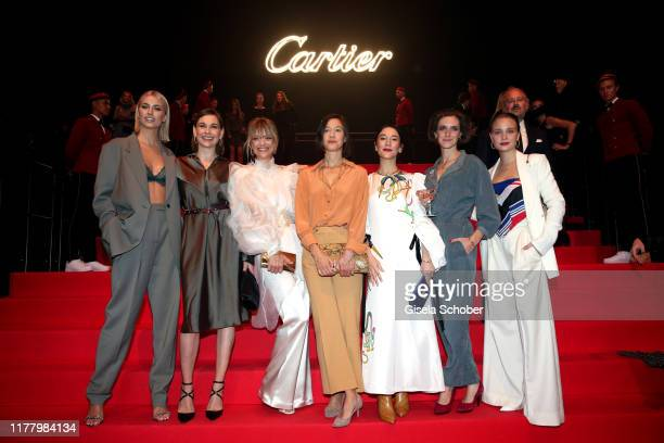 "Lena Gercke, Christiane Paul, Heike Makatsch, Johanna Wokalek, Sibel Kekilli, Miriam Stein and Sonja Gerhardt during the ""Clash de Cartier - The..."