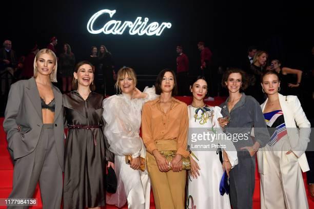 "Lena Gercke , Christiane Paul, Heike Makatsch, Johanna Wokalek, Sibel Kekillli, Miriam Stein and Sonja Gerhardt pose during the ""Clash de Cartier -..."