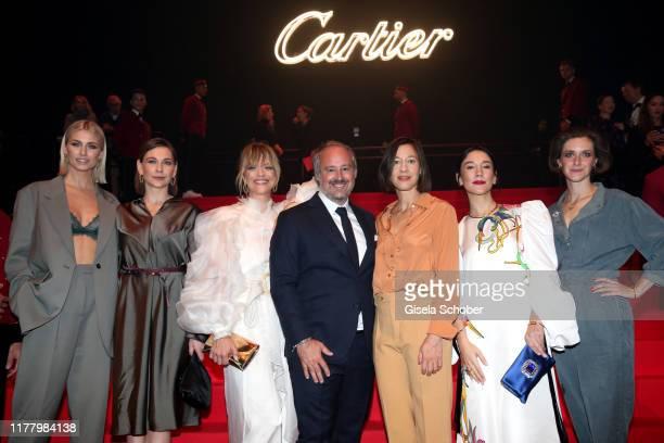 Lena Gercke, Christiane Paul, Heike Makatsch, Renaud Lestringant, Managing Director Cartier Northern Europe Johanna Wokalek, Sibel Kekilli and Miriam...
