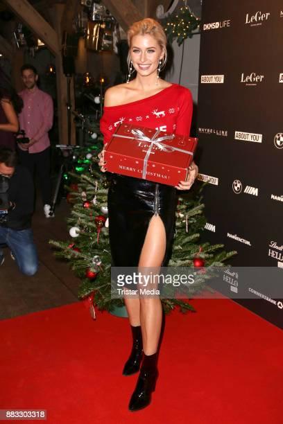 Lena Gercke during her Christmas Dinner Partyat Hygge on November 30, 2017 in Hamburg, Germany.