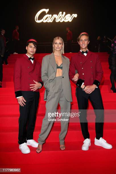 """Lena Gercke during the """"Clash de Cartier - The Opera"""" event at Eisbachstudios on October 24, 2019 in Munich, Germany."""