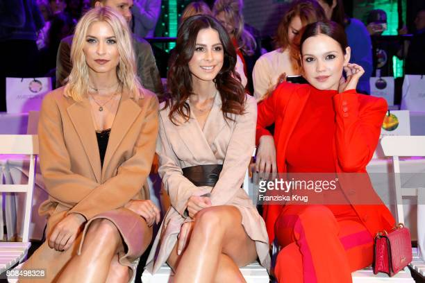 Lena Gercke Lena MeyerLandrut and Emilia Schuele attend the Marc Cain Fashion Show Spring/Summer 2018 at ewerk on July 4 2017 in Berlin Germany