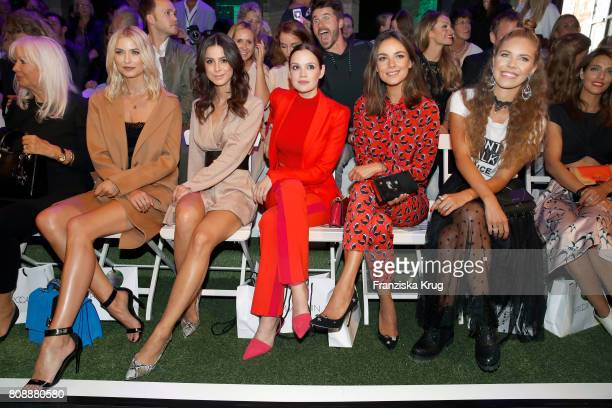 Lena Gercke Lena MeyerLandrut Emilia Schuele Janina Uhse and Victoria Swarowski attend the Marc Cain Fashion Show Spring/Summer 2018 at ewerk on July...