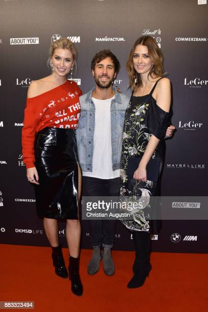 Lena Gercke Max Giesinger and Eva Padberg attend the Christmas Dinner Party of Lena Gercke at the Bar Hygge on November 30 2017 in Hamburg Germany