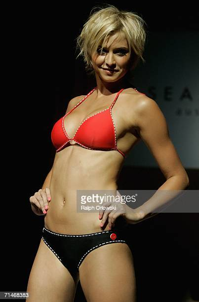 Lena Gercke presents beachwear of Australian fashion label Seafolly at the Global Sport Style Award 2006 at GQ Ispovision Style Night, the...