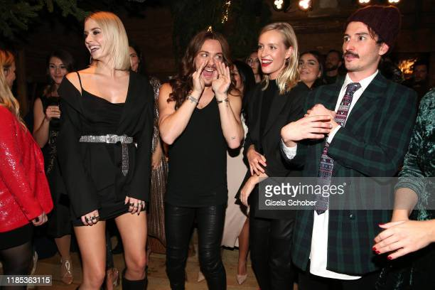 Lena Gercke Riccardo Simonetti Marlies Pfeifhofer and Graham Candy at the Lena Gercke x ABOUT YOU Christmas Dinner and Party at Hotel Stanglwirt on...