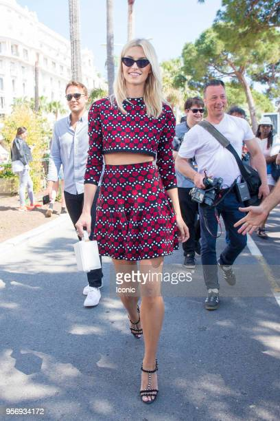 Lena Gercke walks in Cannes during the 71st annual Cannes Film Festival at on May 10 2018 in Cannes France