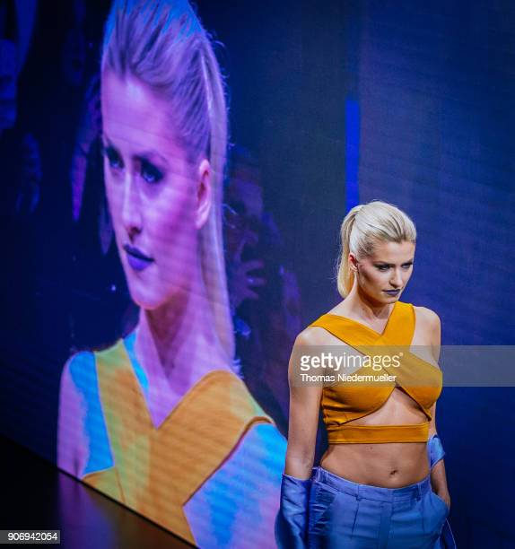 Lena Gercke walks the runway during the Maybelline Show 'Urban Catwalk Faces of New York' at Vollgutlager on January 18 2018 in Berlin Germany