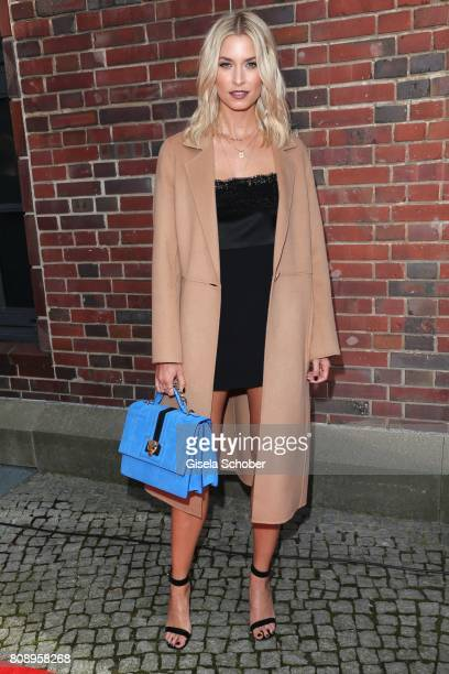 Lena Gercke wearing a dress by Marc Cain during the Marc Cain Fashion Show Spring/Summer 2018 at ewerk on July 4 2017 in Berlin Germany