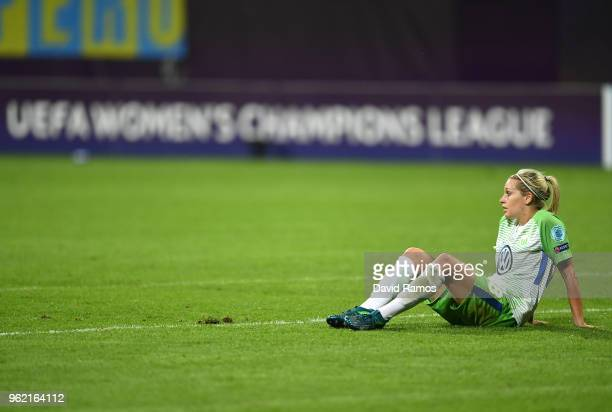 Lena Goeßling of Vfl Wolfsburg lookd dejected after the UEFA Womens Champions League Final between VfL Wolfsburg and Olympique Lyonnais on May 24...