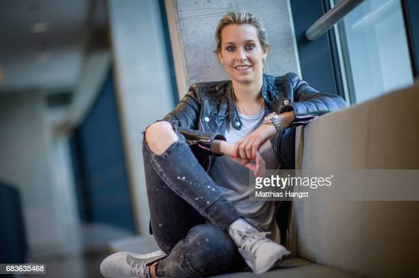 Lena Goessling of Germany poses for a portrait during the DFB Ladies Marketing Day at Commerzbank Arena on April 3 2017 in Frankfurt am Main Germany