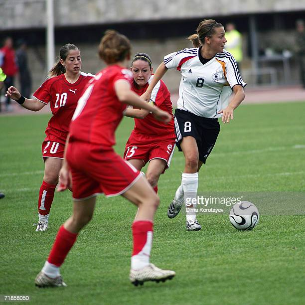 Lena Goessling of Germany vies for the ball during the FIFA Women's Under 20 World Championships Group C match between Mexico and Germany at Dinamo...