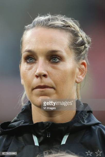 Lena Goessling of Germany women during the UEFA WEURO 2017 Group B group stage match between Russia and Germany at the Galgenwaard Stadium on July 25...