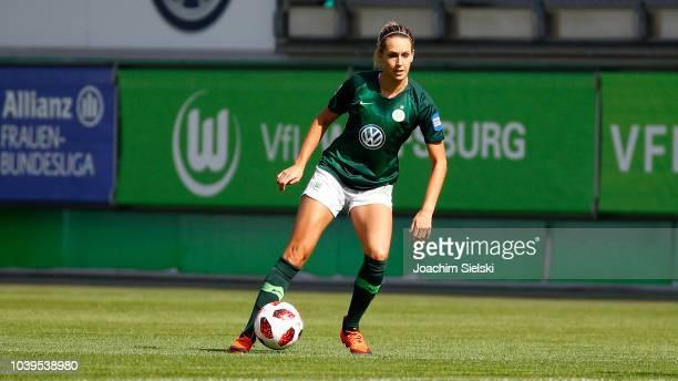Lena Goessling of Wolfsburg during the Allianz Frauen Bundesliga match between VfL Wolfsburg and 1 FFC Frankfurt at AOKStadion on September 16 2018...