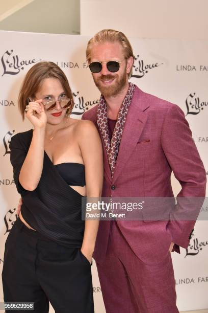 Lena Gora and Alistair Guy attend an exclusive summer cocktail party showcasing the Linda Farrow x Lelloue collection on May 16 2018 in Cannes France