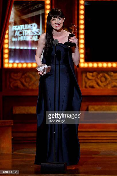 Lena Hall accepts the award for Best Performance by an Actress in a Feature Role in a Musical for Hedwig and the Angry Inch during the 68th Annual...