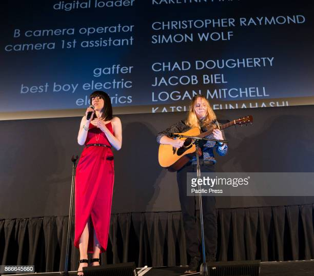 Lena Hall and Alyssa Robbins perform at NewFest closing night movie screening Becks at Cinepolis Chelsea