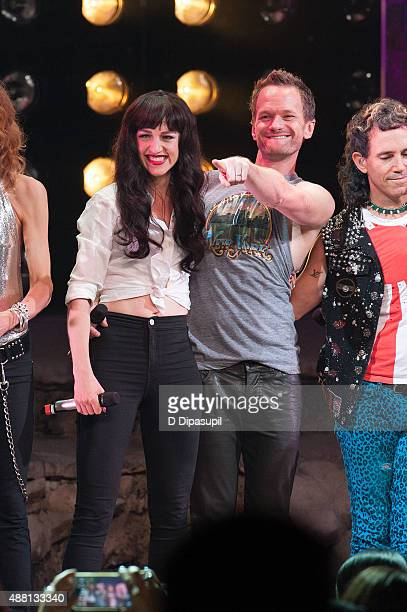 Lena Hall and Neil Patrick Harris perform onstage during the 'Hedwig and the Angry Inch' Broadway final performance at the Belasco Theatre on...
