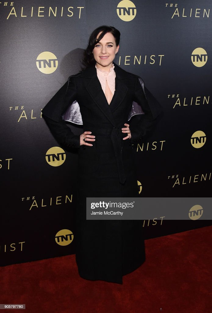 Lena Hall attends the premiere of TNT's 'The Alienist' at iPic Cinema on January 16, 2018 in New York City.