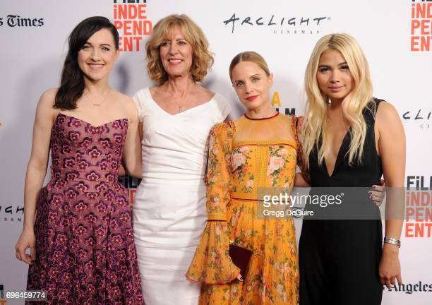 Lena Hall Christine Lahti Mena Suvari and Hayley Kiyoko arrive at the 2017 Los Angeles Film Festival Premiere Of 'Becks' at Arclight Cinemas Culver...