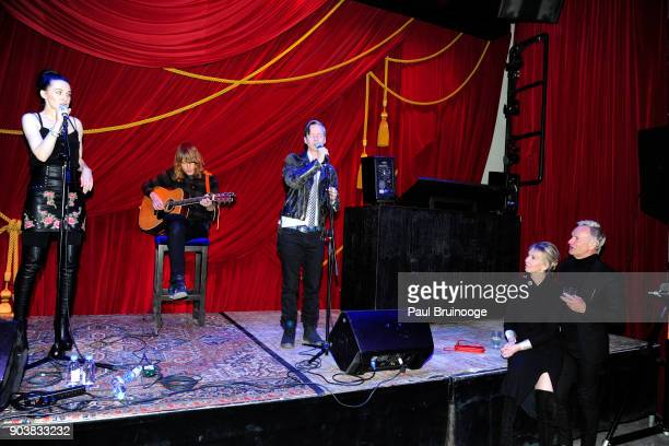 """Lena Hall, John Cameron Mitchell, Trudie Styler and Sting attend The Cinema Society & Bluemercury host the after party for IFC Films' """"Freak Show"""" at..."""