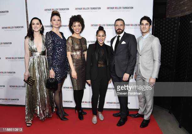 Lena Hall, Sutton Foster, Sasha Hutchings, Ayodele Casel, Raúl Esparza and Darren Criss attend the 2019 Arthur Miller Foundation Honors at Kimpton...