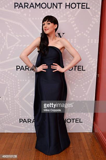 Lena Hall winner of the award for Best Performance by an Actress in a Featured Role in a Musical for Hedwig and the Angry Inch poses in the Paramount...