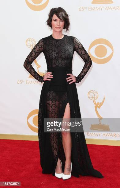 Lena Headey arrives at the 65th Annual Primetime Emmy Awards at Nokia Theatre LA Live on September 22 2013 in Los Angeles California