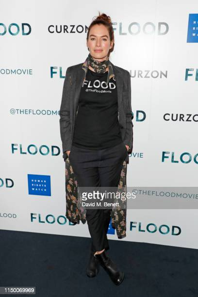 """Lena Headey attends a special screening of """"The Flood"""" at The Curzon Mayfair on June 14, 2019 in London, England."""