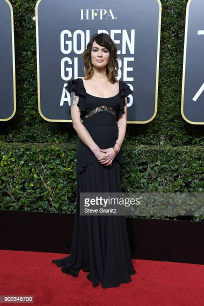 Lena Headey attends The 75th Annual Golden Globe Awards at The Beverly Hilton Hotel on January 7 2018 in Beverly Hills California