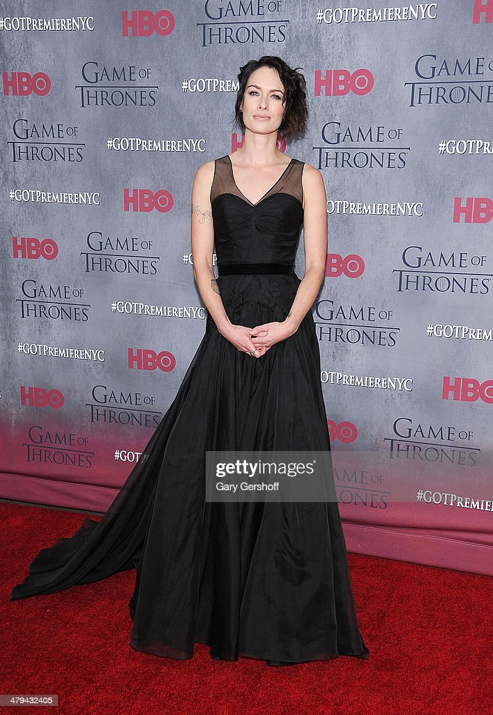 Lena Headey attends the 'Game Of Thrones' Season 4 premiere at Avery Fisher Hall, Lincoln Center on March 18, 2014 in New York City.
