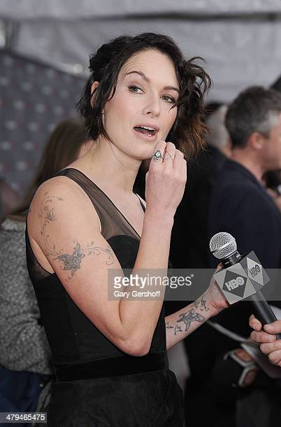 Lena Headey attends the Game Of Thrones Season 4 premiere at Avery Fisher Hall Lincoln Center on March 18 2014 in New York City