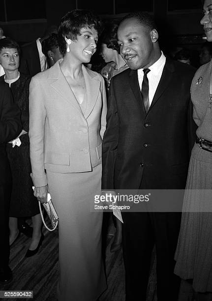 Lena Horne and Dr. Martin Luther King, Jr. At a party Ms. Horne gave in Dr. King's honor.