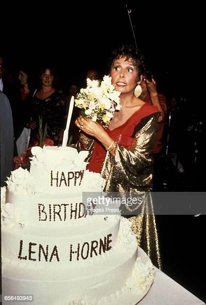 Lena Horne celebrates her birthday circa 1981 in New York City.