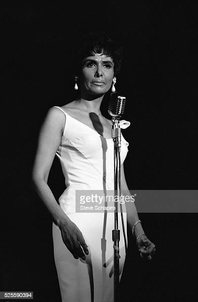 Lena Horne performing at a party she gave in Dr. Martin Luther King, Jr.'s honor.