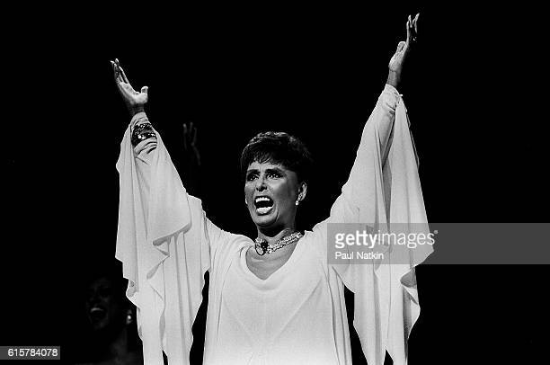 Lena Horne performs at the Poplar Creek Music Theater In Hoffman Estates Illinois July 30 1982