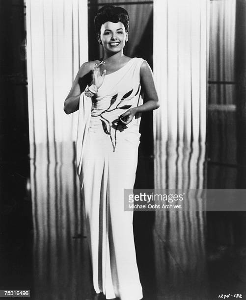 Lena Horne Poses for a promotional shot for the film Stormy Weather directed by Andrew L Stone in 1943 in Los Angeles California